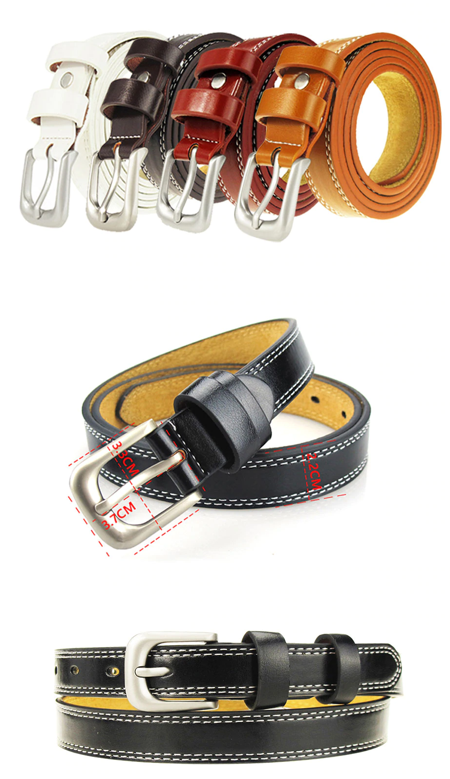 Top Quality Cowskin Leather Belts