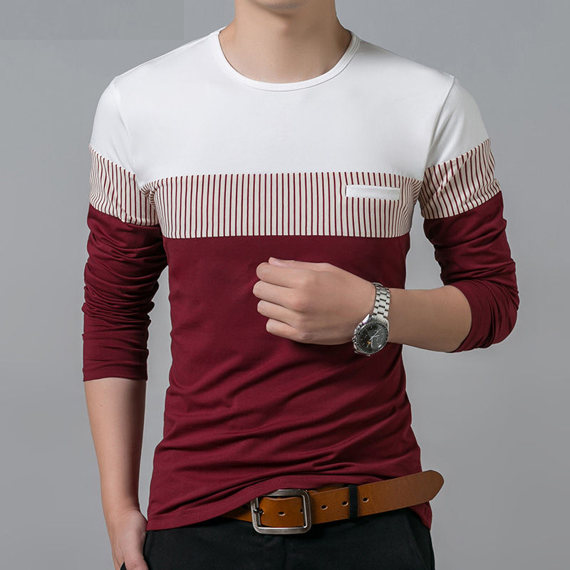 Spring Autumn New Long Sleeve O-Neck T Shirt