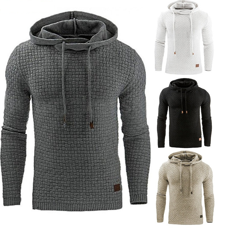 Long Sleeve Solid Color Hooded Sweatshirt