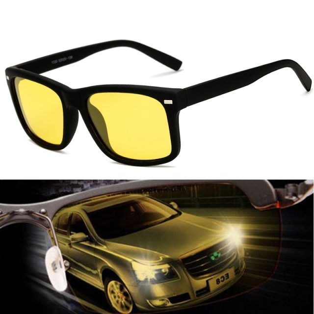 Men Sunglasses Yellow Lens Night
