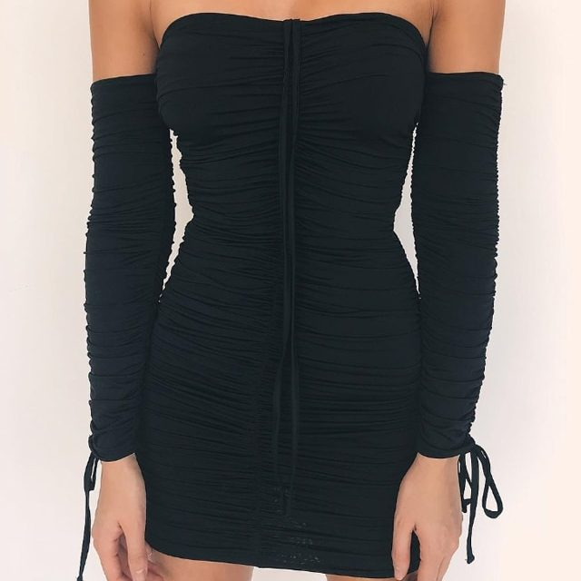 Elastic Bodycon Party Dresses