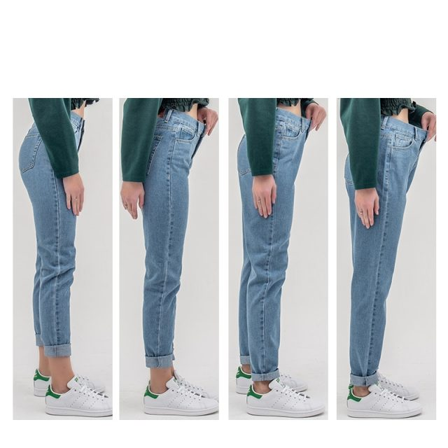 woman mom jeans pants boyfriend jeans