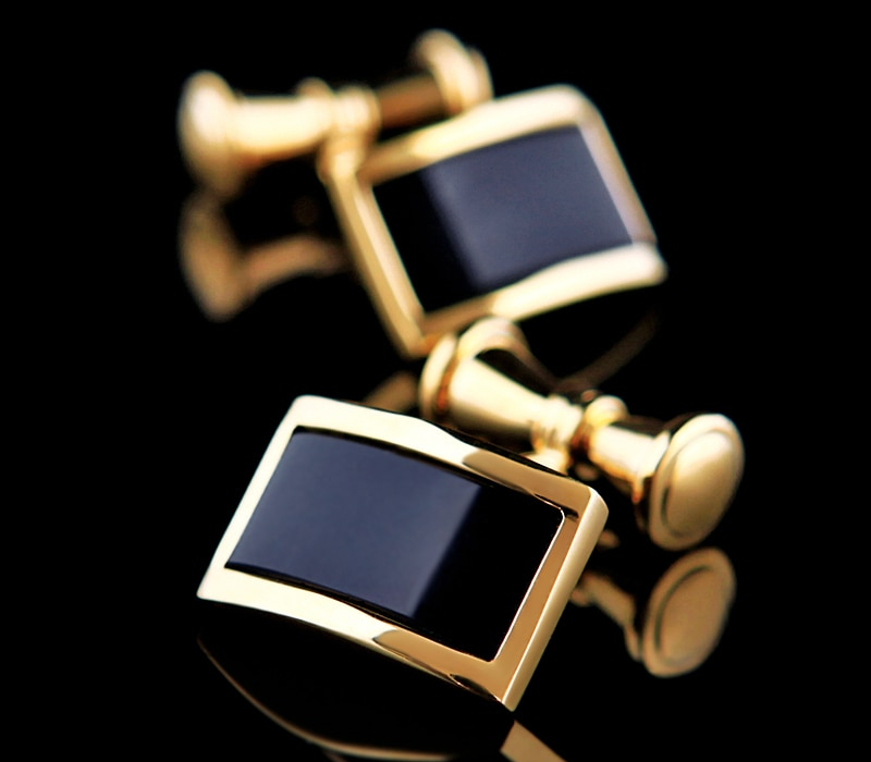 Gold Color Chain Fashion Cuff links