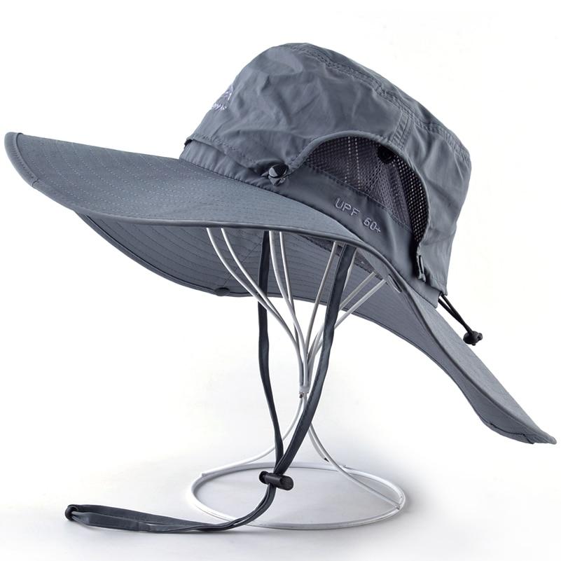 Elegant Unisex Wide Brim Anti-UV Bucket Hat