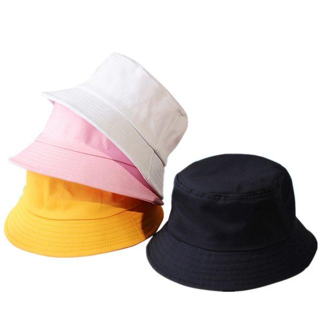 Unisex Cotton Bucket Summer Sunscreen Hat