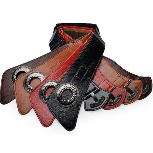 Woman Fashion Wide Waist Elastic Stretch Belt