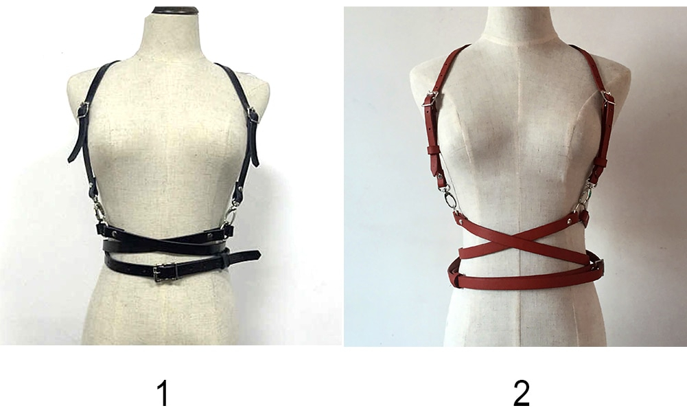 Sexy Women Leather Harness Belts