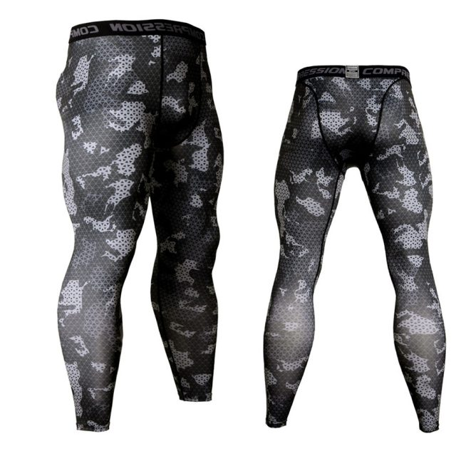 Camouflage Compression Sportswear Gym Pants